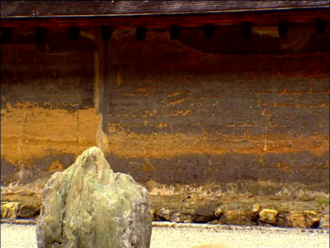 rocks in ryoanji zen rock garden kyoto - chan buddhism stock videos & royalty-free footage