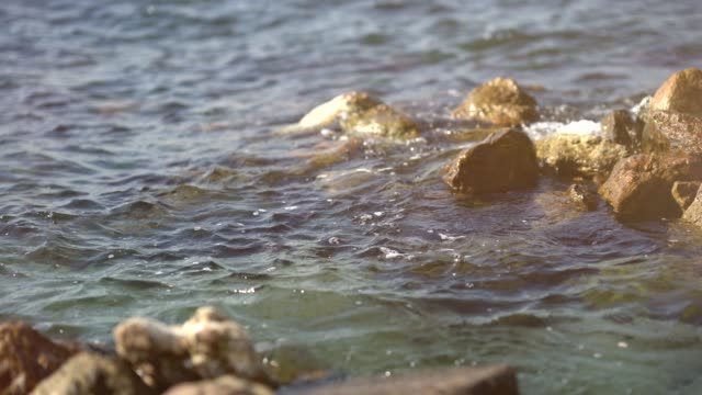 rocks, waves and sea - marmara stock videos and b-roll footage