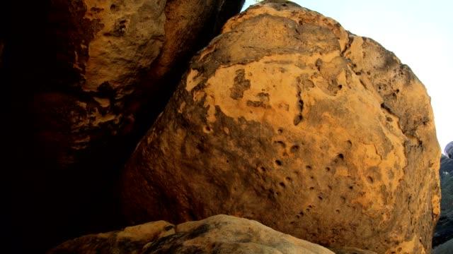 rocks with camera slider, sandstone mountains, tourist destination - fels stock videos & royalty-free footage
