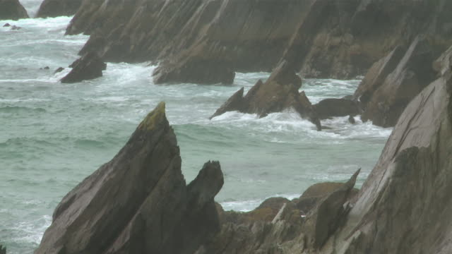 ms rocks with stormy sea / kenmare, county kerry, ireland  - record breaking stock videos & royalty-free footage