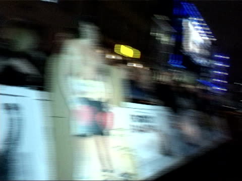 'rocky balboa' premiere: red carpet interviews; england: london: leicester square: ext / night red carpet with 'rocky balboa' printed in black zoom... - girls beware film title stock videos & royalty-free footage