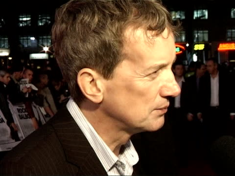 'rocky balboa' premiere red carpet interviews frank skinner interview sot talks about boxing legends who have come out of retirement for one last... - peter falk stock-videos und b-roll-filmmaterial