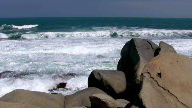 hd: rocky beach - tayrona national park stock videos and b-roll footage