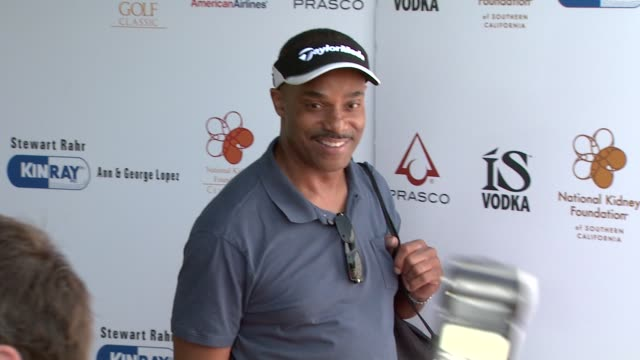 rocky carroll at the 2nd annual national kidney foundation celebrity golf classic at toluca lake ca. - toluca lake stock videos & royalty-free footage