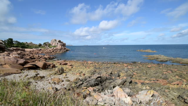 Rocky coast at Cote de Granit Rose