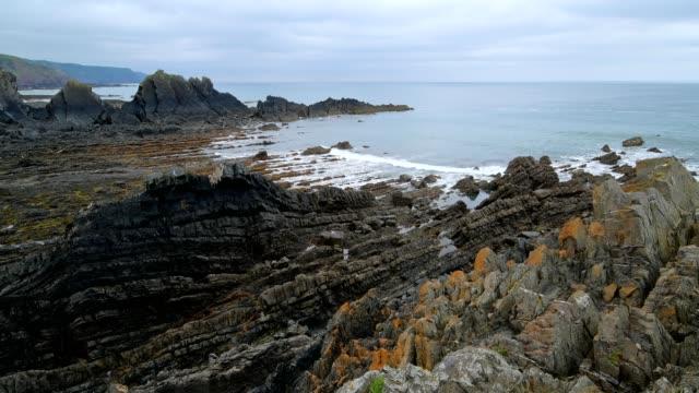 Rocky coast, Hartland Quay, Bideford, North Devon, Devon, England, United Kingdom, Europe