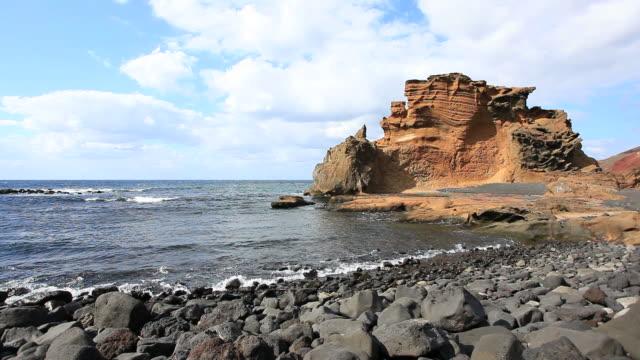 Rocky Costa em Lanzarote, Ilhas Canárias, vídeo em HD