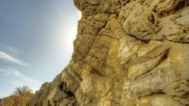 Rocky coast on sunny day