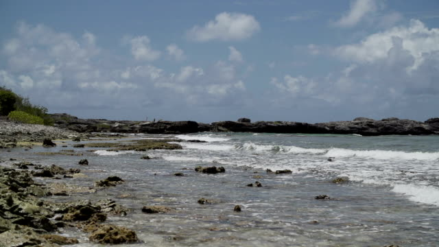 stockvideo's en b-roll-footage met rocky coast - franse overzeese gebieden
