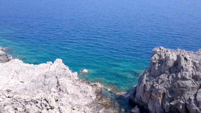 rocky coast - rhodes dodecanese islands stock videos & royalty-free footage