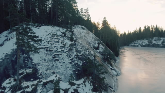 rocky coastline aerial view finland - baltic sea stock videos and b-roll footage