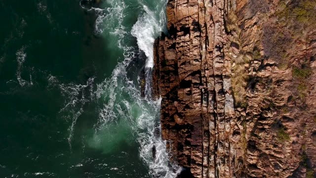 rocky coastline aerial view - cape town stock videos & royalty-free footage