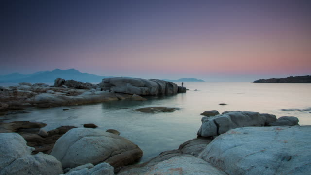time lapse: rocky coastline corsica - tide stock videos & royalty-free footage