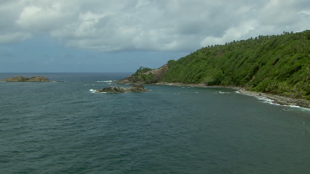 Rocky Coastline Of Dominica Island