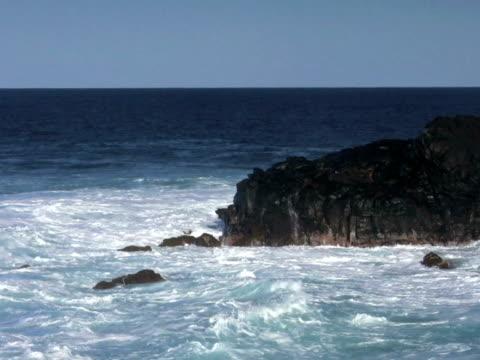 pal: rocky coastline - rocky coastline stock videos & royalty-free footage