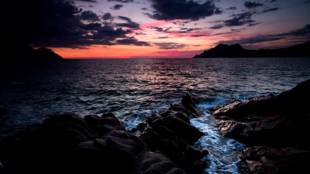 rocky coastline - rocky coastline stock videos & royalty-free footage