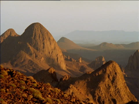 Rocky desert landscape Hoggar Massiff