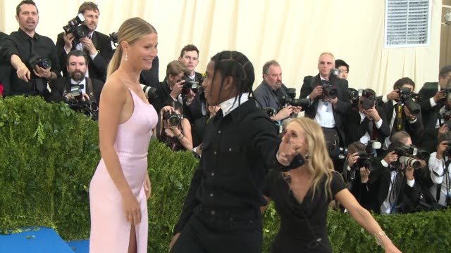 rocky gwyneth paltrow at rei kawakubo/comme des garcons art of the inbetween costume institute gala arrivals at the metropolitan museum of art on may... - gwyneth paltrow stock videos & royalty-free footage
