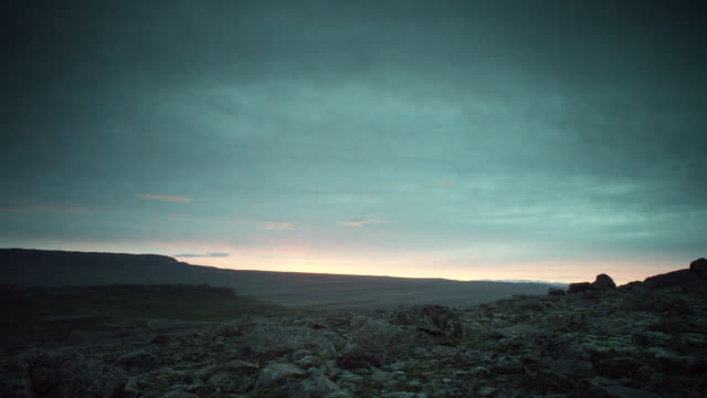 rocky landscape timelapse - iceland stock videos & royalty-free footage