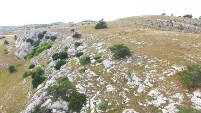 AERIAL: Rocky mountain plateau