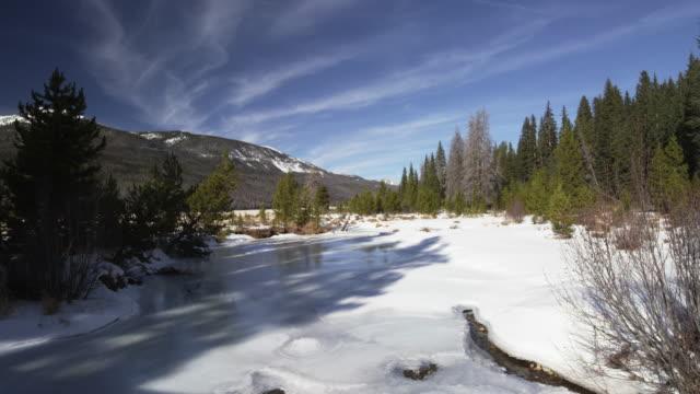 Rocky Mountain stream frozen
