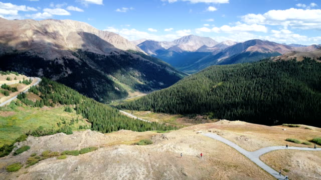 rocky mountain valley above independence pass - evergreen stock videos & royalty-free footage
