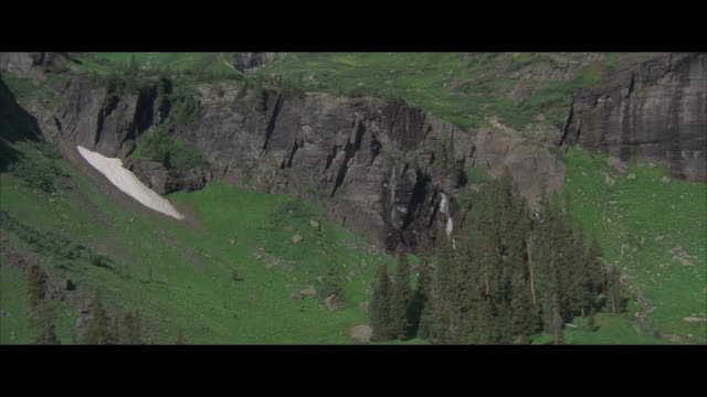 stockvideo's en b-roll-footage met aerial, rocky mountains, usa - letterbox format