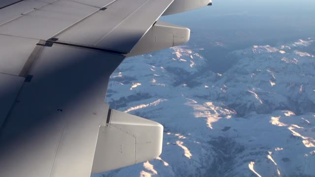 rocky mountains view from aircraft window - rocky mountains north america stock videos & royalty-free footage
