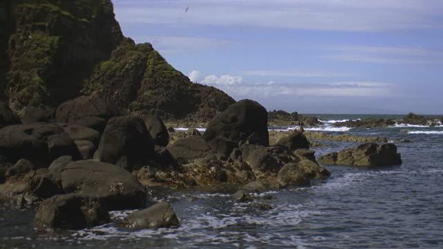 rocky shoreline - horizon over water stock videos & royalty-free footage