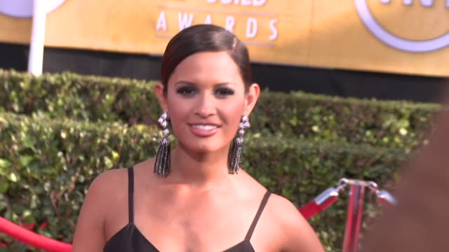 rocsi diaz at 20th annual screen actors guild awards arrivals at the shrine auditorium on in los angeles california - シュラインオーディトリアム点の映像素材/bロール
