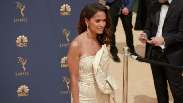 rocsi diaz at the 70th emmy awards arrivals at microsoft theater on september 17 2018 in los angeles california - 70th annual primetime emmy awards stock videos and b-roll footage