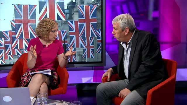 rod liddle new book on modern day british values disco london gir int rod liddle live studio interview sot on not liking liberal middle classes... - ウールウィッチ点の映像素材/bロール