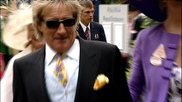 Rod Stewart along at the races