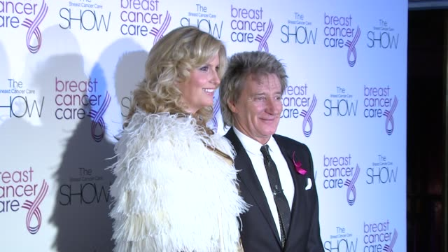 rod stewart and penny lancaster stewart at the the breast cancer care show at london england. - rod stewart stock-videos und b-roll-filmmaterial