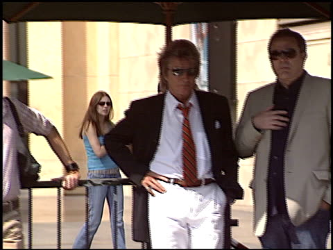 Rod Stewart at the Dediction of Rod Stewart's Walk of Fame Star at the Hollywood Walk of Fame in Hollywood California on October 11 2005