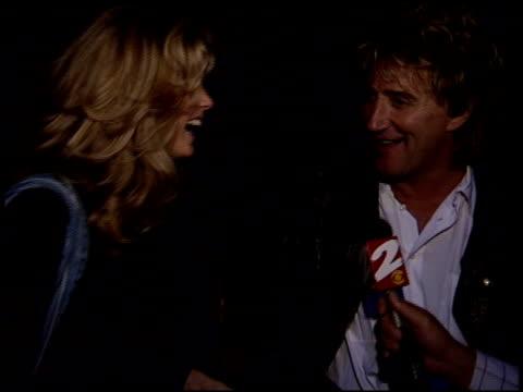 rod stewart at the dream halloween, children affect aids at santa monica airport in santa monica, california on october 29, 1994. - rod stewart stock-videos und b-roll-filmmaterial