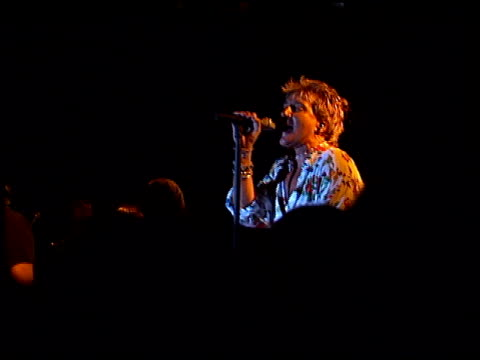 Rod Stewart at the Rod Stewart Video and Concerts at Roxy Theater in Los Angeles California on June 2 1998