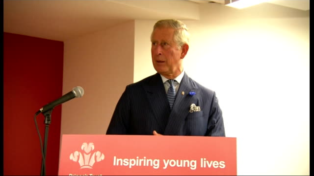 Rod Stewart is late to attend event with Prince Charles Prince Charles speech SOT Prince Charles unveiling plaque / Close shot plaque and Prince...