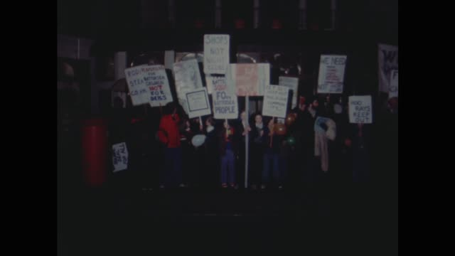 roddy llewellyn's club 'benefits' opening night england london lms reaction group pickets with placards ms ditto shout sof pan over demos - placard stock videos & royalty-free footage