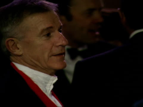 roddy mcdowall talks to other guests at the vanity fair oscar party. - vanity fair oscar party stock videos & royalty-free footage