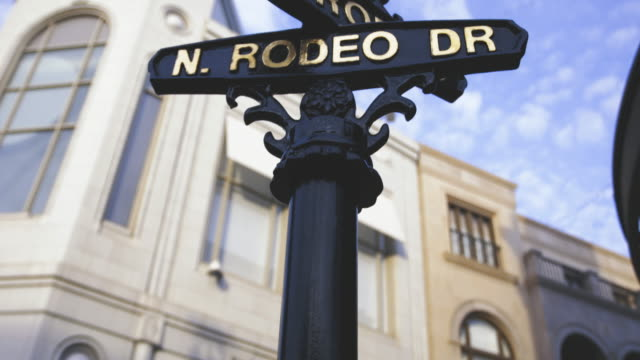 rodeo drive - beverly hills - 4k - beverly hills california stock videos & royalty-free footage