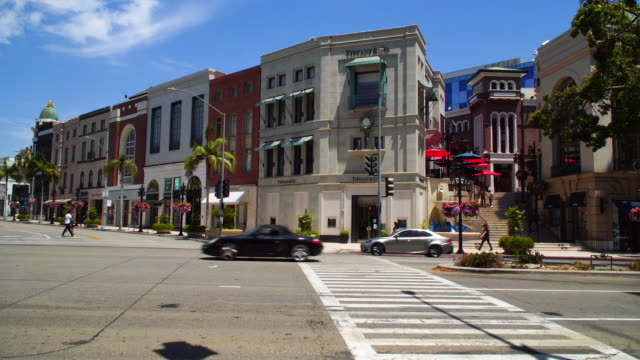 rodeo drive in beverly hills california - beverly hills stock videos & royalty-free footage