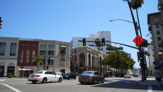 rodeo drive in beverly hills california - beverly hills california stock videos & royalty-free footage