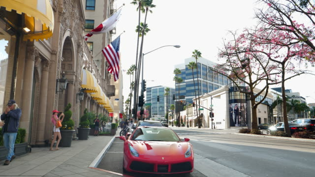 Rodeo Drive in Beverly Hills is a home to many famous movie actors celebrities and expensive luxury fashion boutique stores