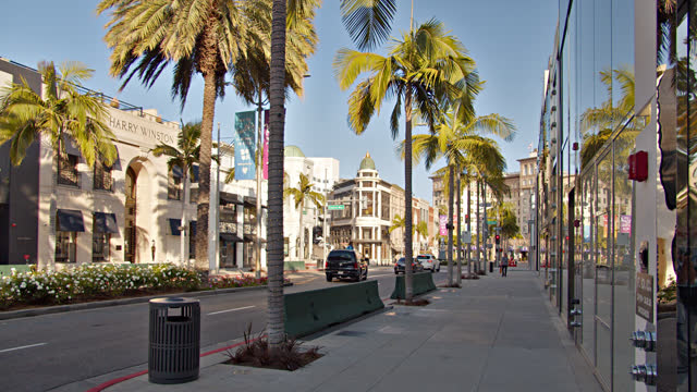 rodeo drive. los angeles shopping center. fashion. - beverly hills stock videos & royalty-free footage