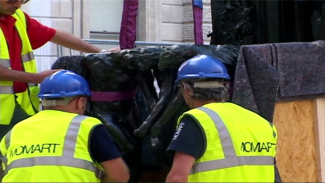 rodin sculptures to go on exhibition at royal academy england london royal academy of arts ext auguste rodin monument 'the gates of hell' decorated... - bas relief stock videos & royalty-free footage