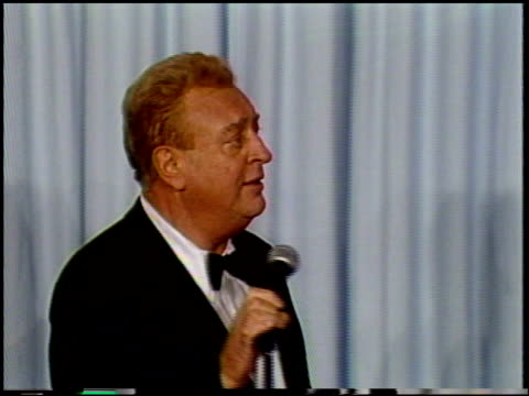 rodney dangerfield at the 1987 academy awards at dorothy chandler pavilion in los angeles california on march 30 1987 - dorothy chandler pavilion stock videos and b-roll footage
