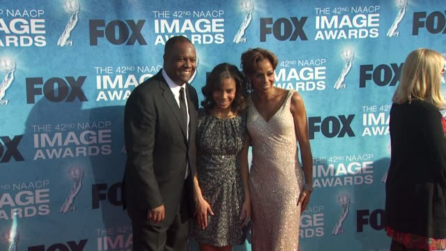 rodney peete and holly robinson peete at the 42nd naacp image awards at los angeles ca. - naacp stock videos & royalty-free footage