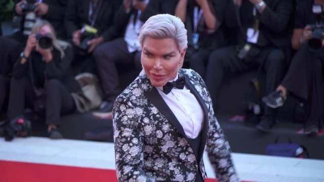 rodrigo alves arrives on the red carpet of 'vox lux' during the 75th venice film festival on september 4 2018 in venice italy - film festival stock videos & royalty-free footage