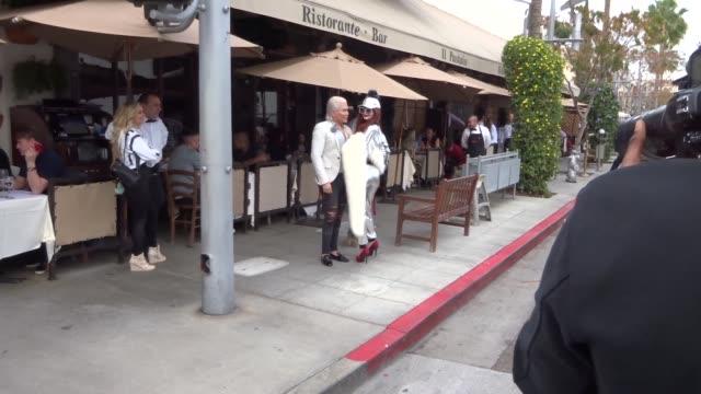 Rodrigo Alves Phoebe Price strike a pose in Beverly Hills in Celebrity Sightings in Los Angeles